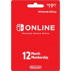 Nintendo Switch Online - 12 Month (365 Day - 1 Year) Membership