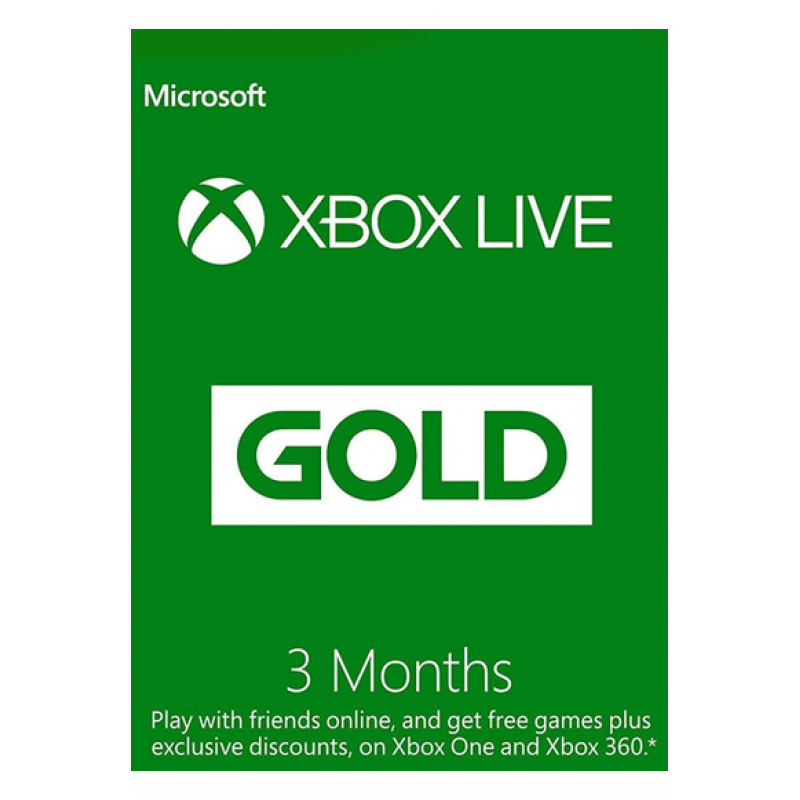 Xbox Live Gold Memberships   3 Months (Global)