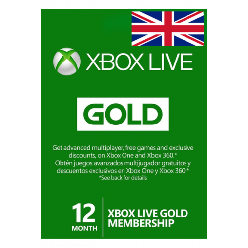 Xbox Live Gold Memberships   12 Months - Uk