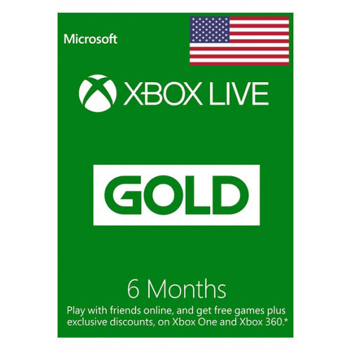 Xbox Live Gold Memberships | 6 Months - USA