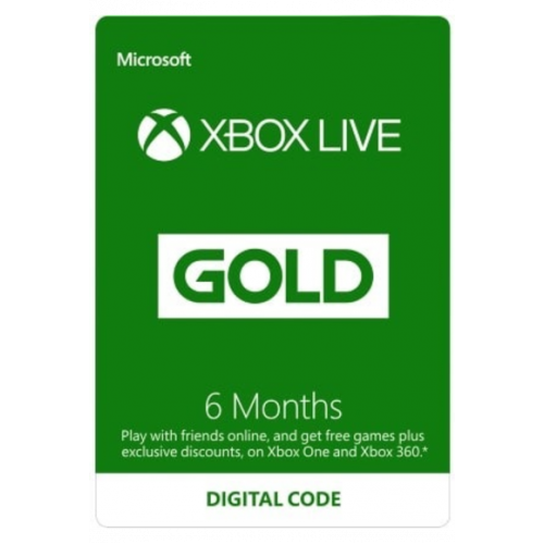 Xbox Live Gold Memberships | 6 Months (Global)
