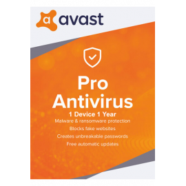 Avast Pro Premium Security - 1 Device 1 Year