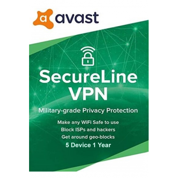 Avast Secureline Vpn - 5 Devices | 1 Year