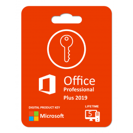 Microsoft Office 2019 Professional Plus : Lifetime License (1key For 5 Pc)