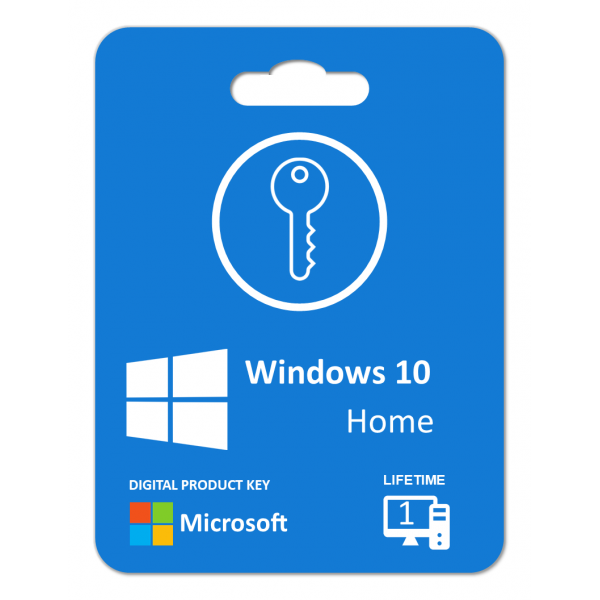 Windows 10 Home: Product Key For 1 PC , Life Time License, Digitally Delivery Via Email