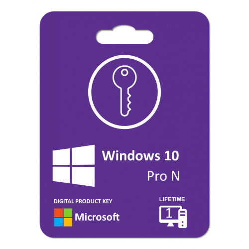Windows 10 Pro N Version: Product Key For 1 PC , Life Time License, Digitally Delivery Via Email