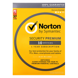 Norton Security Premium - 10 Devices + 25 GB - 1 Year
