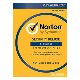 Norton Security Deluxe - 5 Devices 3 Years