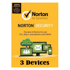 Norton Security - 3 Devices 1 Year, Product Key, Digitally Delivery Via Email