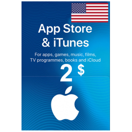 Apple Itunes Gift Card - $2 (USD) (USA) App Store
