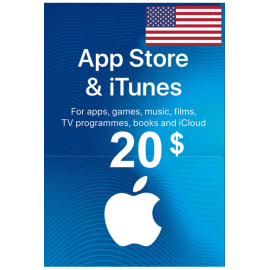 Apple Itunes Gift Card - $20 (USD) (USA) App Store