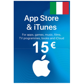 Apple Itunes Gift Card - 15€ (Eur) (Italy) App Store