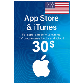Apple Itunes Gift Card - $30 (USD) (USA) App Store