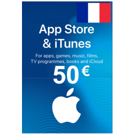 Apple Itunes Gift Card - 50€ (Eur) (France) App Store