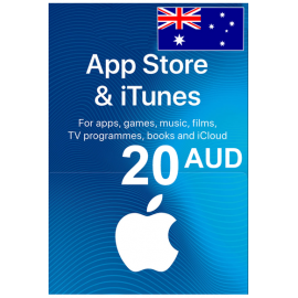 Apple Itunes Gift Card - 20 (Aud) (Australia) App Store