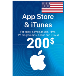 Apple Itunes Gift Card - $200 (USD) (USA) App Store