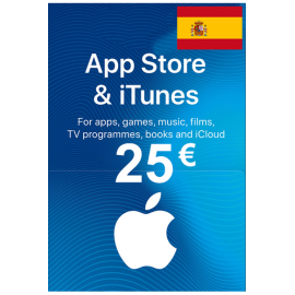 Apple Itunes Gift Card - 25€ (Eur) (Spain) App Store