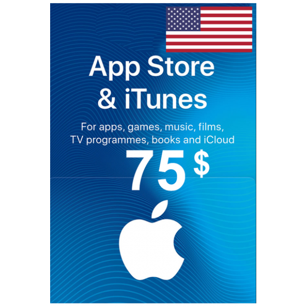 Apple Itunes Gift Card - $75 (USD) (USA) App Store