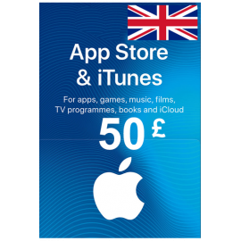 Apple Itunes Gift Card - £50 (Gbp) (Ukunited Kingdom) App Store
