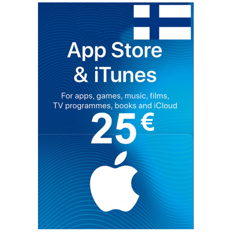 Apple Itunes Gift Card - 25€ (Eur) (Finland) App Store