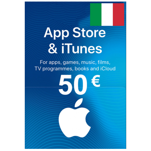 Apple Itunes Gift Card - 50€ (Eur) (Italy) App Store