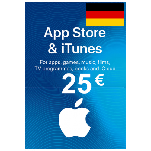 Apple Itunes Gift Card - 25€ (Eur) (Germany) App Store