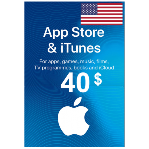 Apple Itunes Gift Card - $40 (USD) (USA) App Store