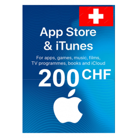 Apple Itunes Gift Card - 200 (Chf) (Switzerland) App Store