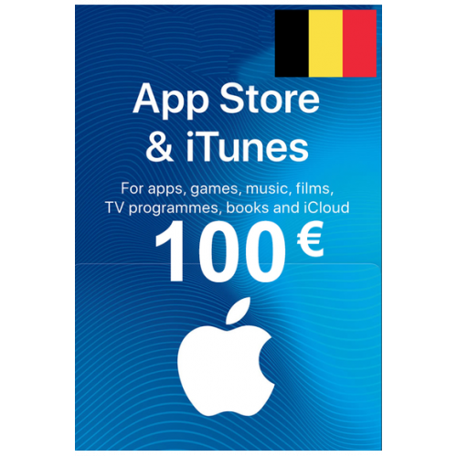 Apple Itunes Gift Card - 100€ (Eur) (Belgium) App Store