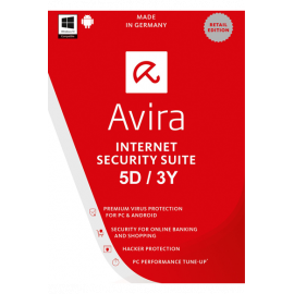 Avira Internet Security Suite - 5 Device 3 Year