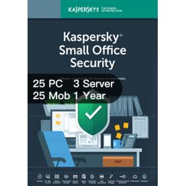 Kaspersky Small Office Security For 25 Desktop, 25 Mobile, 3 Server 1 Year, Product Key, Digitally Delivery Via Email