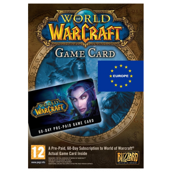 World of Warcraft: 60 Days Time Card (WOW Europe)